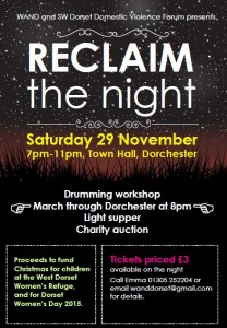 Reclaim the night poster