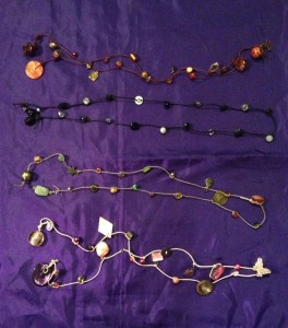 Izzy strung necklaces