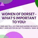 International Women's Day Street Consultation poster