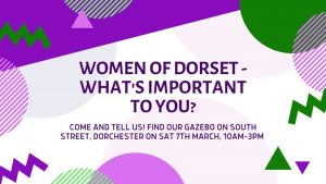 International Women's Day Street Consultation poster