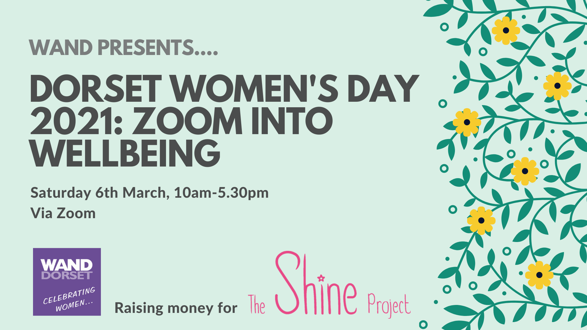 Dorset Women's Day 2021: Zoom into Wellbeing