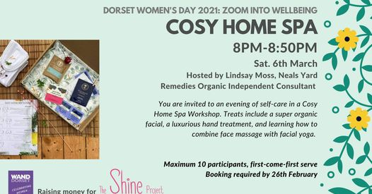 Dorset Women's Day 2021: Cosy Home Spa FULLY BOOKED
