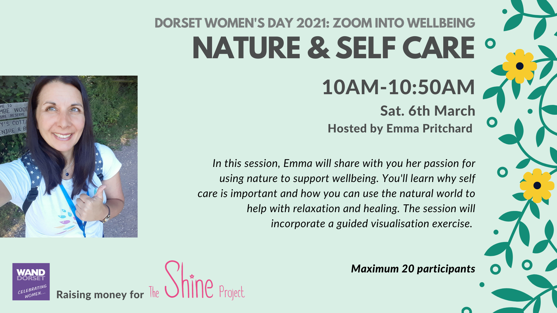Dorset Women's Day 2021: Nature & Self Care - FULLY BOOKED!