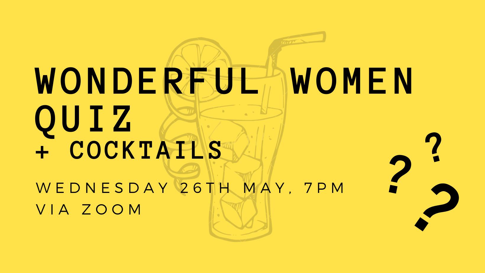 Wonderful Women Quiz & Cocktail Night